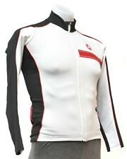 Castelli Long Sleeve Thermal Cycling Jersey Men SMALL Black White Road Bike