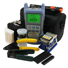17 In 1 FTTH Tool Kit FC-6S Fiber Cleaver Optical Power Meter 10Mw VFL Wire Stri