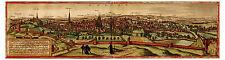 Leuven Flemish Brabant Belgium bird's-eye view map Braun Hogenberg ca.1572
