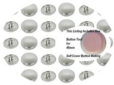 Fabric Cover Buttons 38mm 50 SHANK Back  DIY Button Size 60 win tool set