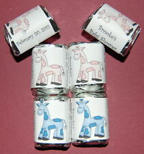30 Giraffe Baby Shower Candy Wrappers