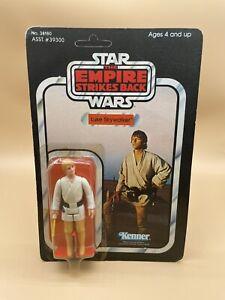 1977 Vintage Star Wars LUKE SKYWALKER ORANGE HAIR VERY RARE Kenner ESB MOC 41 Bk