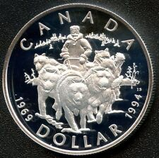 1994 Canada Proof Silver Dollar (RCMP Dog Patrol) 25.175 Grams .925
