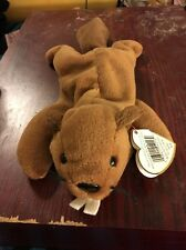 TY BUCKY the BEAVER BEANIE BABY - 6-8-95 4016 HANG TAG - SEE PICS