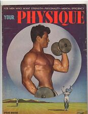 YOUR PHYSIQUE bodybuilding muscle magazine/STEVE REEVES Mr World 1-49
