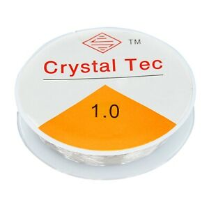 TRIXES 8m Spool Clear 1mm Elastic Stretch Thread for Bead Jewellery Crafts