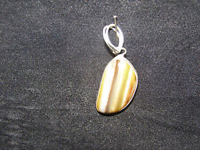 Agate Pendant In Silver 15mm to 40mm Healing Crystal Birthday Gift