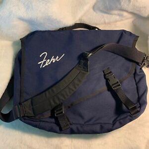 LL Bean Navy Blue Messenger Bag Fehr Book Bag Shoulder Strap