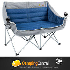 OZTRAIL GALAXY 2 SOFA (BLUE) MOON CHAIR  ARMS PICNIC CAMP OUTDOOR SEAT PORTABLE