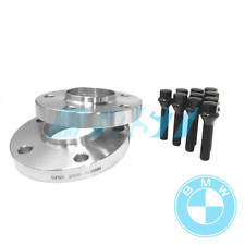 BMW Spacers Hub Centric 20mm | 5x120, 72.56 | 2 Piece Kit with Black Bolts