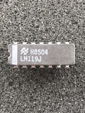 2PCS - National Semiconductor LM119 / LM119J Hi-Speed Dual Comparator