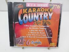 Chartbuster Vol  276 KARAOKE Country hot hits CD+G player needed new sealed T54