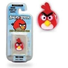 Angry Birds Mini Glass Sculpture Collectible - Red Bird, NIP, Mint!