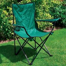 Folding Picnic Chair Seat & Cup Holder Furniture Garden Outdoor Fishing Camping