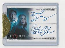 David Duchovny & Gillian Anderson The X Files Season 10 & 11 Dual Autograph Card