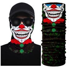 3D Clown Face Bandana Mask Shield Headwear Neck Tube Scarf Skull Head  UV  EL