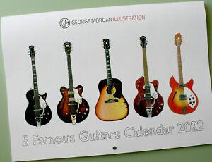 Five Famous Guitars Calendar 2022 George Morgan Illustration