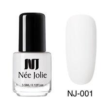 NEE JOLIE 3.5ml Matting Nail Polish Black White Nail Art Oily Varnish Decoration