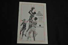 1971 NBC NCAA BASKETBALL CHAMPIONSHIP ADVERTISERS GUIDE LANIER ISSEL GILMORE VF