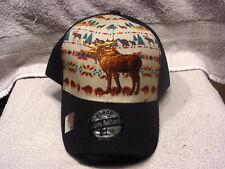MOOSE INDIAN SOUTHWEST WESTERN BASEBALL CAP HAT ( BLACK )