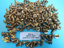 """AN525-10R7 #10-32 x 7/16"""" Aircraft Structural Washer Head Phillips Screws (200)"""