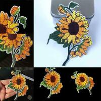 1PC Sunflower Patch Cloth Embroidery Applique Stickers Fabric Badges Fast
