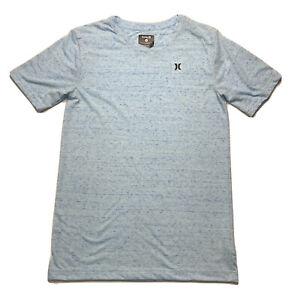 HURLEY Boys V-neck T Shirt Short Sleeve Blue Size XLarge