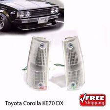 New Corolla E70 KE70 E70 TE71 DX Pair Front Indicator Corner Light Lamps