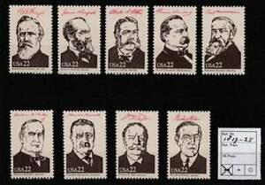 America / USA postfris 1986 MNH 1817-1825 - Presidents of the United States