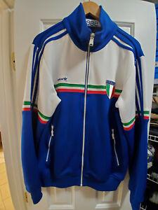 2009 Adidas Italy/Italia Soccer Track Top Jacket Retro '82 World Cup Mens Medium