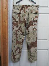 free ship Desert Storm 6 Color Chocolate Chip Camo BDU Pants Size S-M,1983 NOS