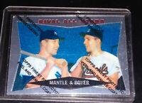 1959 TOPPS FINEST MICKEY MANTLE/ KEN BOYER REFRACTOR WITH COATING 1997 REPRINT