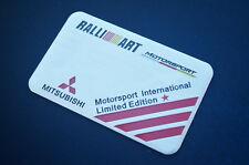 1Pcs Ralliart Auto Car  Emblem Badge Decal Sticker Fit for Mitsubishi Lancer