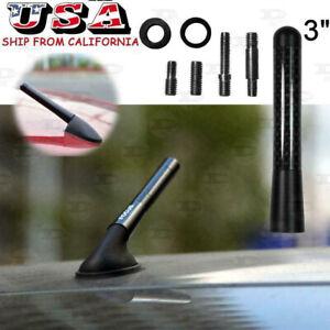 "3"" Carbon Fiber Car Auto AM/FM Antenna Short Screw-in Aerial Mast Universal Fit"