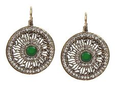 Ohrringe gold grün Strass Ohrhänger by Ella Jonte new fashion earrings