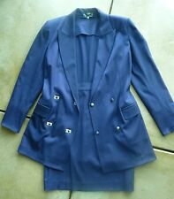 EUC Vintage Claude Montana 2-piece Suit Indigo Blue/Purple women's size medium