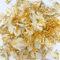 Biodegradable WEDDING CONFETTI IVORY FLUTTERFALL Orange Dried Flower Petals
