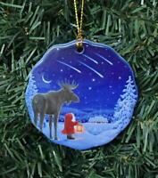 Scandinavian Swedish Ceramic Christmas Ornament Eva Melhuish Gnome Elf Tomte