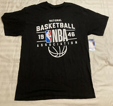 Official NBA 1946 National Basketball Association Black Logo Shirt T-shirt NWT