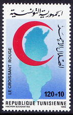 Tunisia 1986 MNH 1v, Red Cross, Red crescent Map (L165)
