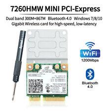 Intel Wireless-AC 7260HMW Network Card Dual Band 802.11abgn+ac 2x2 Bluetooth 4.0