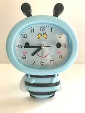"""Lovely Blue Honeybee Style Standing Clock 6.5""""  Great Kids Gift and Room Decor"""