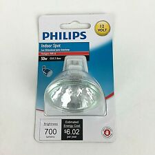 Philips Indoor Spot Light Bulb 50w Halogen MR16 GU5.3 Base 12 Volt 700 Lumens