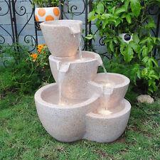 Muiti Pots Sandstone Outdoor-indoor Water Fountain With Led Lights