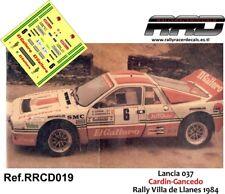 DECAL/CALCA 1/43; Lancia 037; Cardin-Gancedo; Rally Villa de Llanes 1984