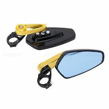 "7/8"" Universal Motorbike Motorcycle Handle Bar End Rearview Side Mirror Aluminum"