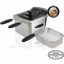 Farberware Home Electric Deep Fryer Countertop 4 L Fat Oil Stainless Steel Fries