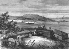 TURKEY. Biga peninsula.The Ancient Dardanus, on the Dardanelles, old print, 1877