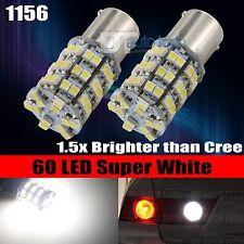 20X 1156 BA15S RV Trailer Interior 12V LED Lights Bulbs 60 SMD 6000K Xenon White