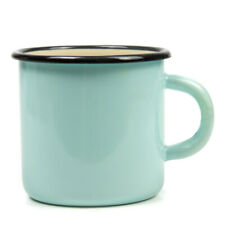 13 fl oz Blue Enameled Mug Vintage Style Picnic Camping Sturdy Durable HOT/COLD